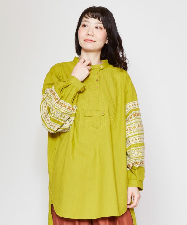 Volume Sleeve Top-Ametsuchi