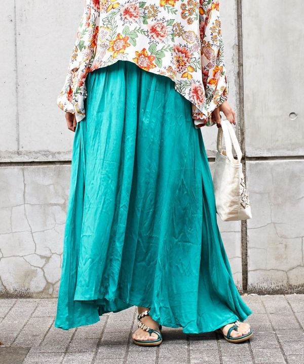 Everyday BOHO Long Skirt with Pouch-Ametsuchi