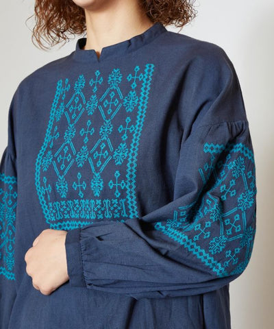 Cross Stitch Embroidered Top-Tops-Ametsuchi