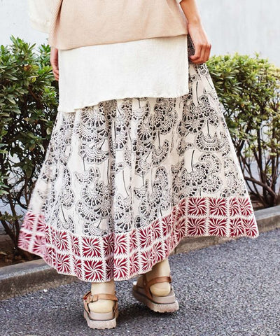 Block Print Wide Pants