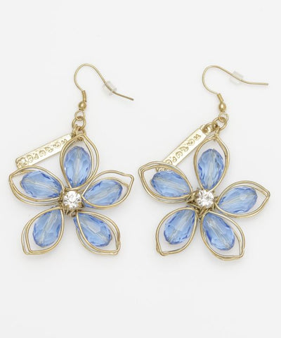 Wirework Flower Earrings