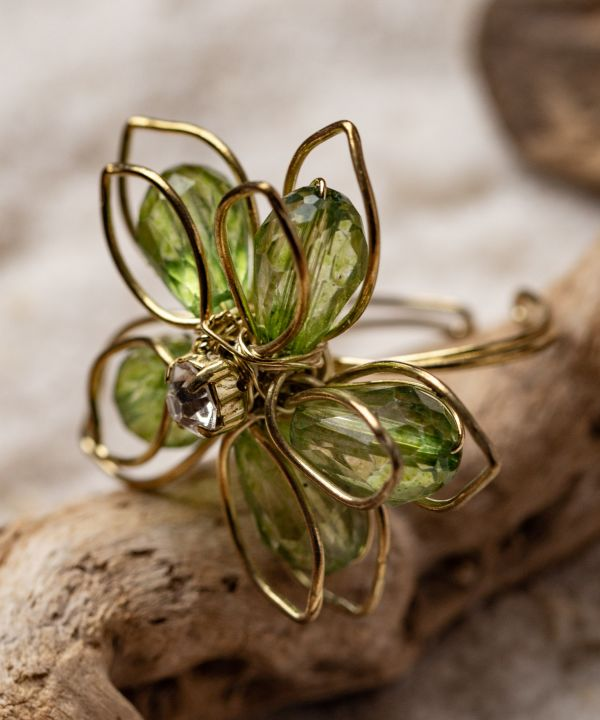 Wirework Flower Ring-Rings-Ametsuchi
