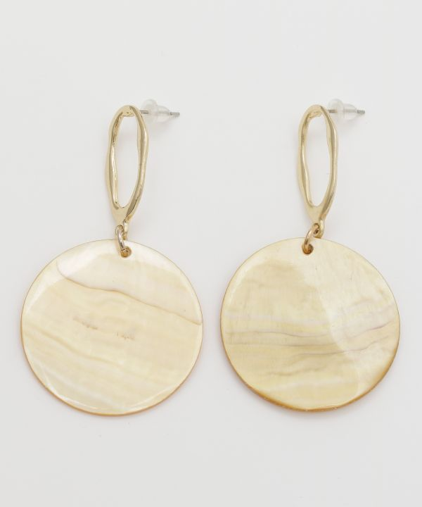 Round Shell Earrings