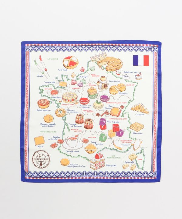 Retro Map Scarf-Scarves-欧州航路- Ametsuchi