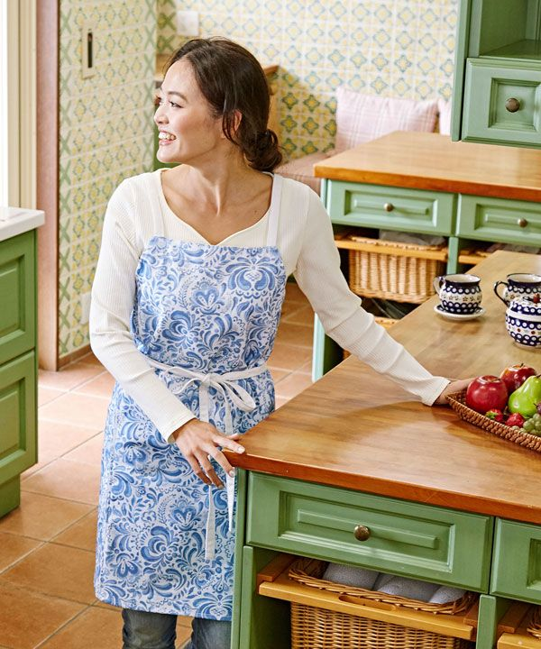French Moroccan Apron-Kitchen Goods-欧州航路- Ametsuchi