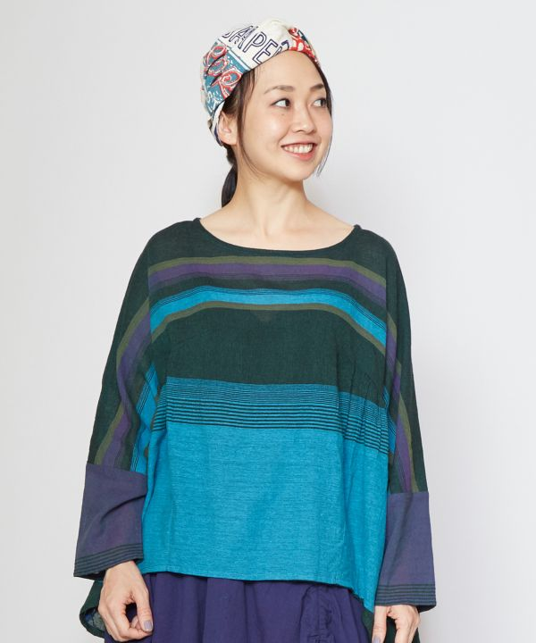 Nepalese Cotton Slouchy Top-Ametsuchi