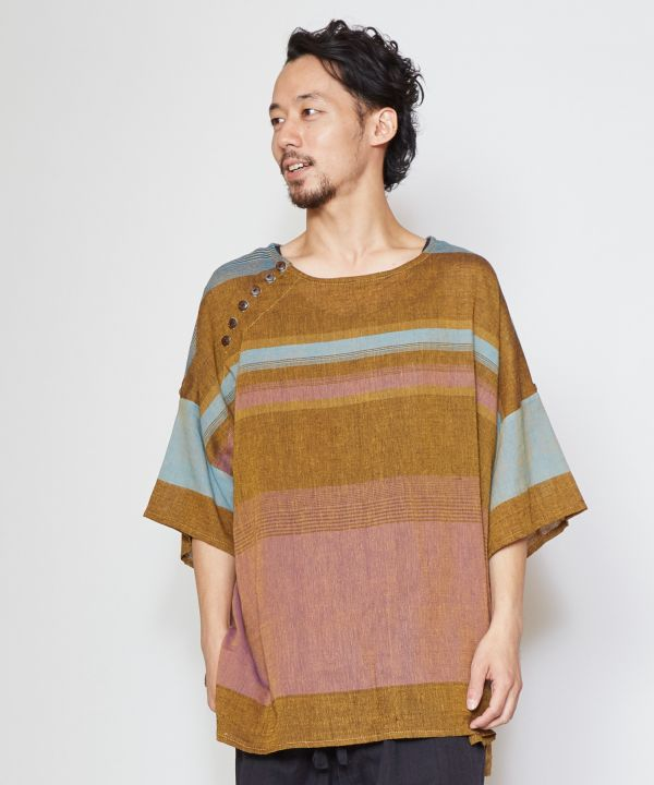 Nepalese Cotton Men's Slouchy Top-Ametsuchi