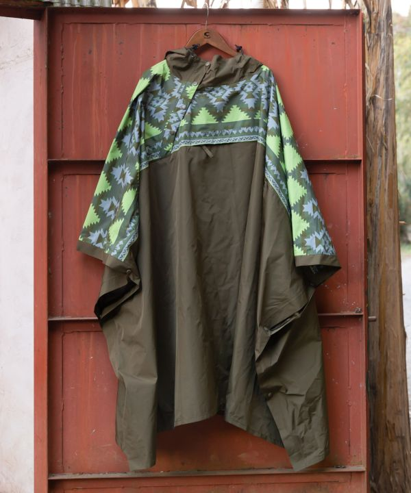 Packable Water Repellent Rain Poncho-Ametsuchi