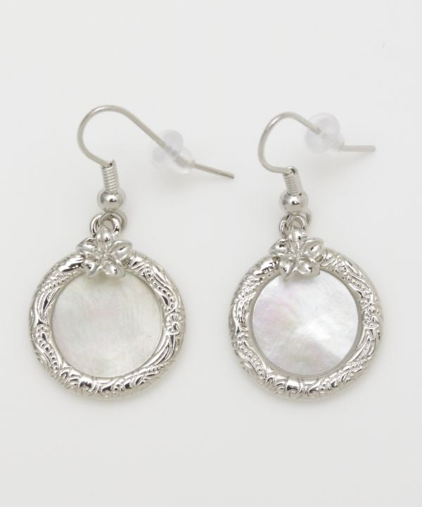 PLUMERIA Shell Earrings-Ametsuchi