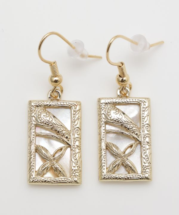 TAPA Shell Earrings-Ametsuchi
