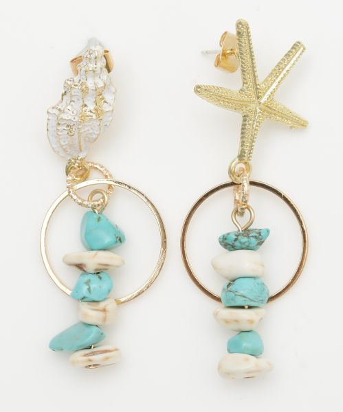 Ocean Asymmetrical Earrings-Ametsuchi