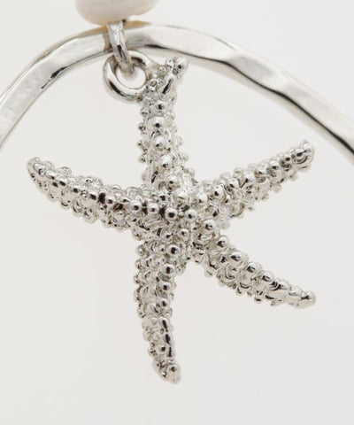 Oval Starfish Earrings-Ametsuchi