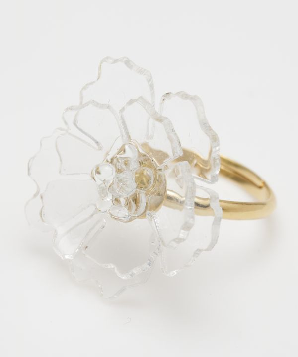 Transparent Flower Ring