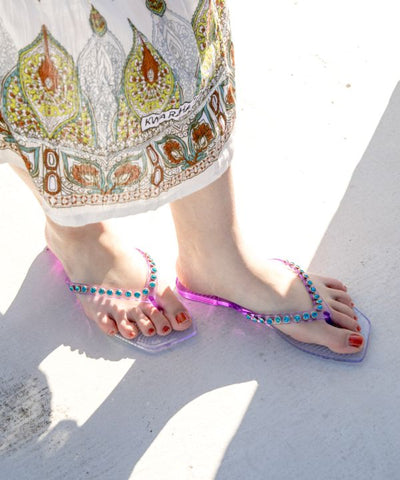 Moroccan Tea Glass Thong Sandals