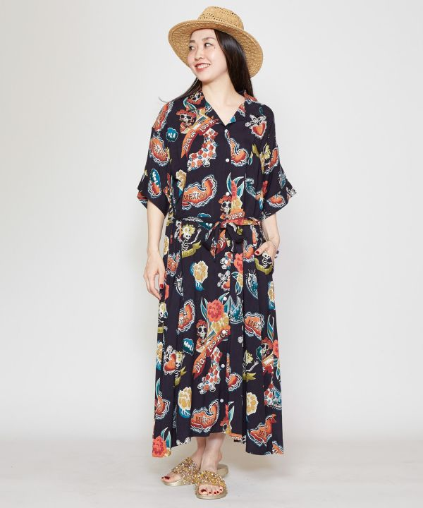 Mexican Aloha Shirt Dress