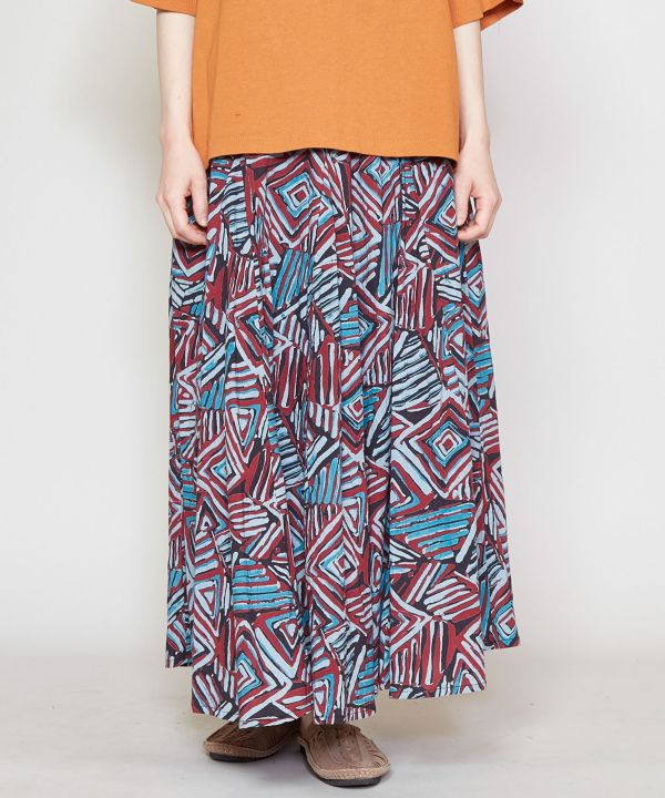 African Geom Long Skirt