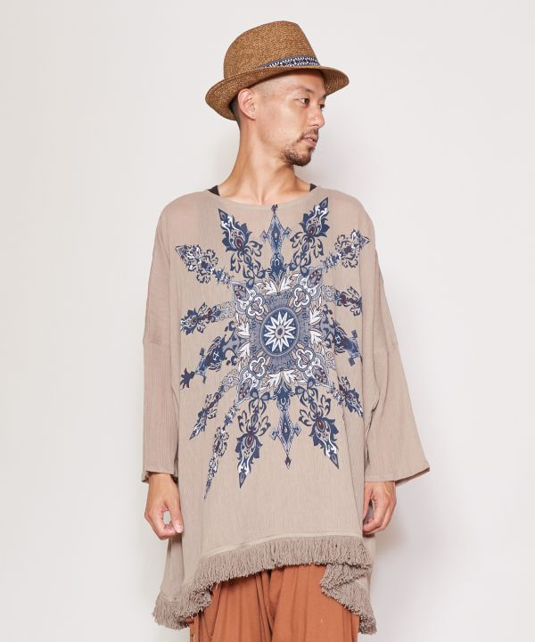 Where to go Tribal Slouchy Top-Ametsuchi