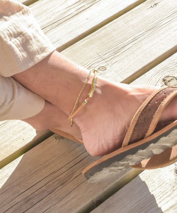 Blue People Anklet
