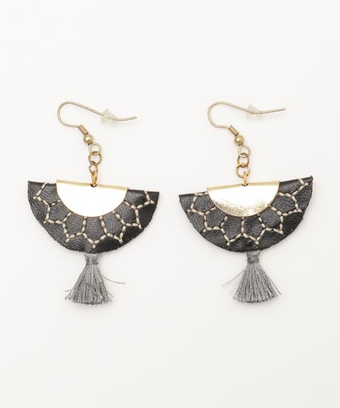Pouf Embroidery Earrings