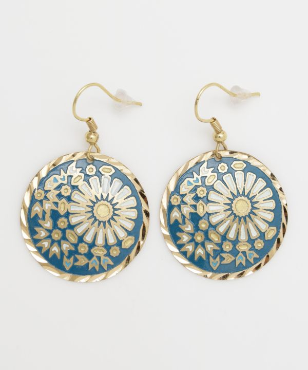Tile Round Earrings
