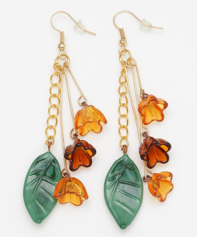Venetian Glass Flower Earrings