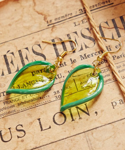 Venetian Glass Leaf Earrings