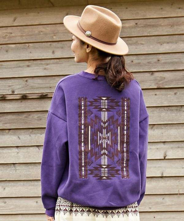 Navajo Pattern Embroiderd Back Top