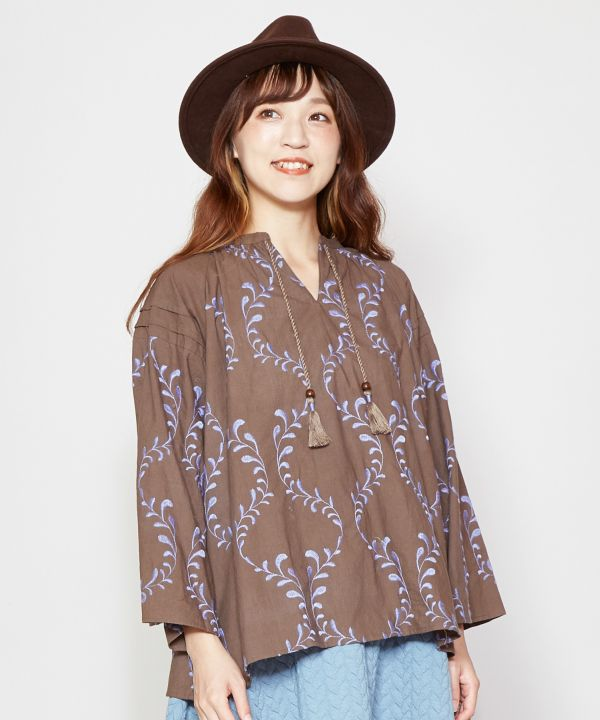 Luxuriously Embroidered Top