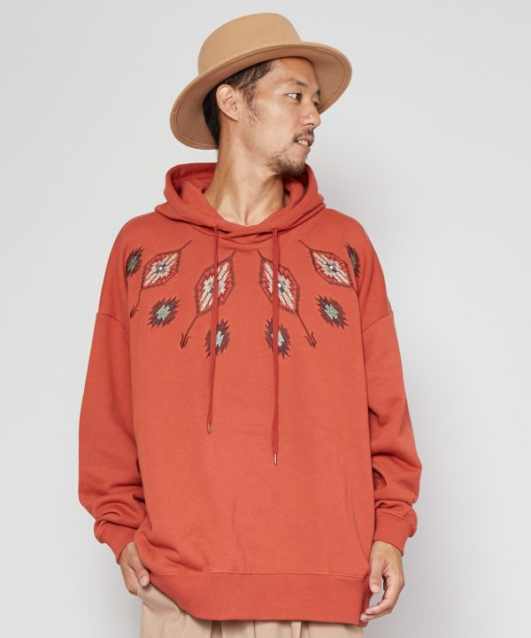 grn x Amina Navajo Embroidered Men's Hoodie