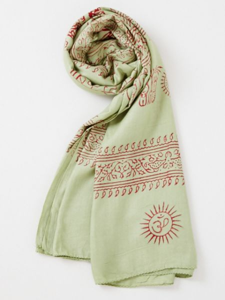 Ethnic Print Soft Texture Large Scarf -Scarves-Ametsuchi