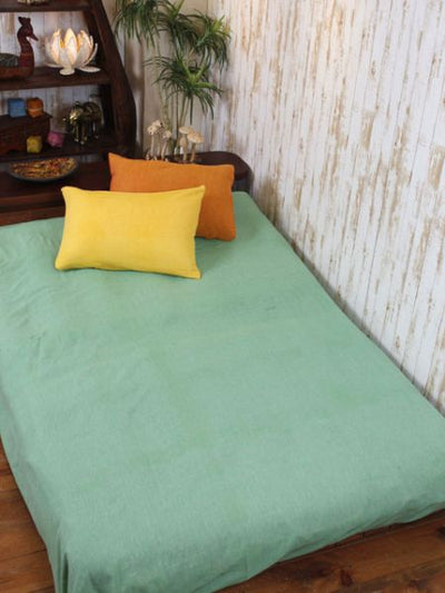 Simple Indian Cotton Bed Sheet / Multi Cloth-Bed Linens-Ametsuchi