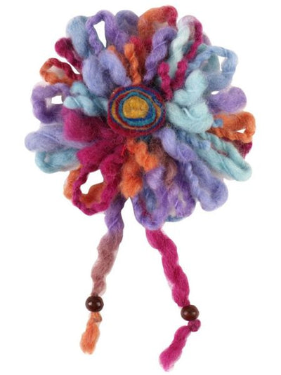 Wool Flower Corsage -Others-Ametsuchi