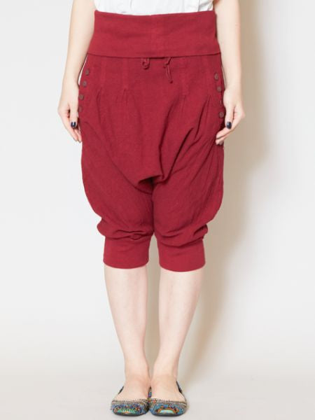 Simple Cotton Harem Yoga Shorts-Pants & Shorts-Ametsuchi