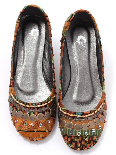 Ethnic Metal Parts Pumps -Shoes-Ametsuchi