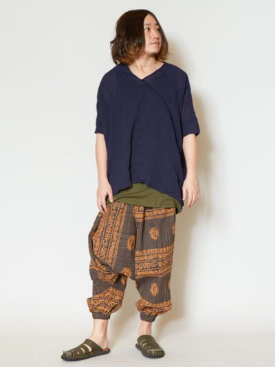 Tribal Prints Unisex Yoga Harem Pants-Pants & Shorts-Ametsuchi