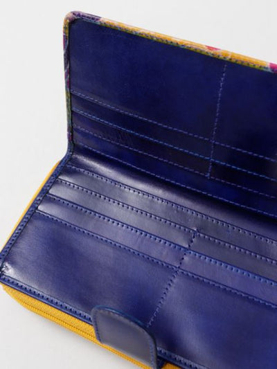 Hand Made Goat Leather Long Wallet-Ametsuchi