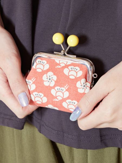 HANPU Cotton GAMAGUCHI Square Purse-Ametsuchi