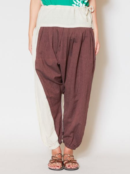 Bi Color Unisex Harem Pants-Pants & Shorts-Ametsuchi