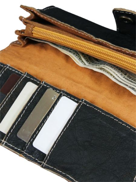 Himalaya Mountains Village Leather Wallet