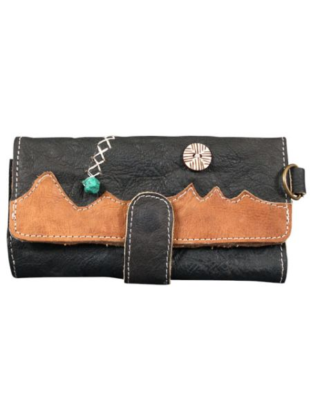 Himalaya Mountains Village Leather Wallet-Ametsuchi
