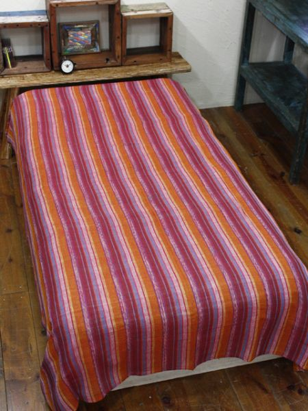 Colorful Stripe Cotton Bed Cover-Bed Linens-Ametsuchi