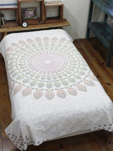 Mandala Pattern Bed Cover-Bed Linens-Ametsuchi