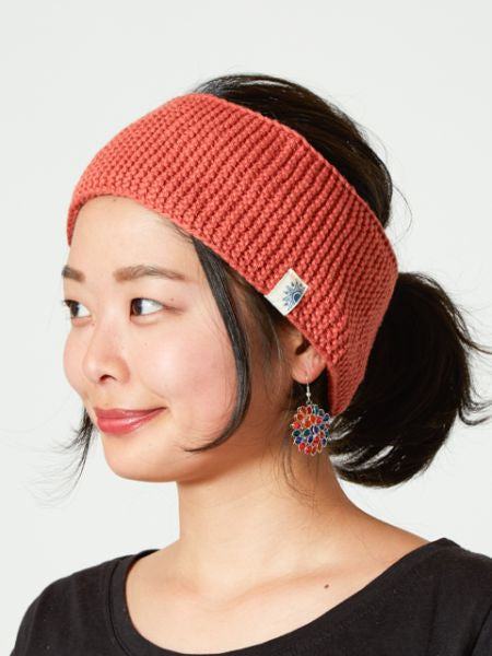 Cotton Knit Hair Band-Caps & Hats-Ametsuchi
