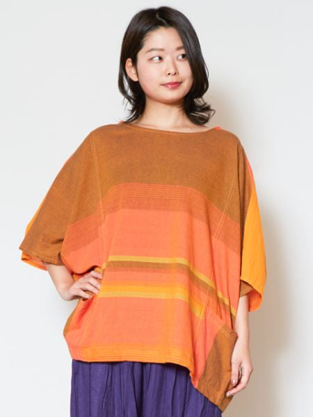 Napali Cotton Stripe Top-Shirts & Blusen-Ametsuchi