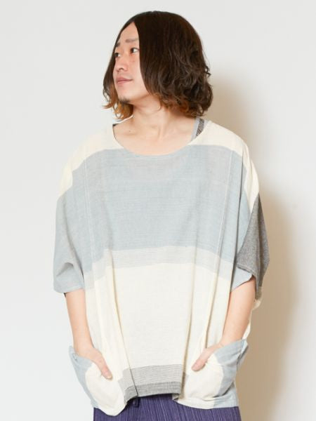 Unisex Napali Cotton Stripe Top-Ametsuchi