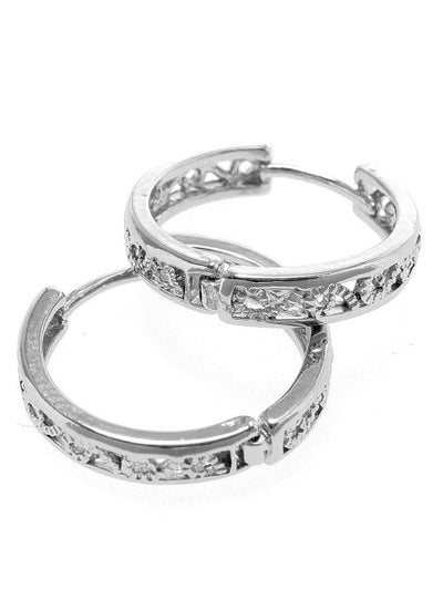 Arabesque Metal Hoop Earrings-Ametsuchi