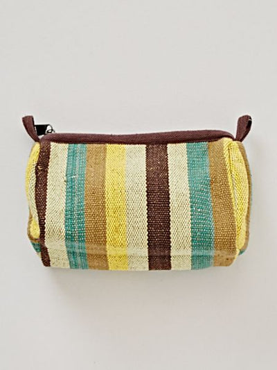 Border woven pouch with gusset -Bags & Purses-Ametsuchi
