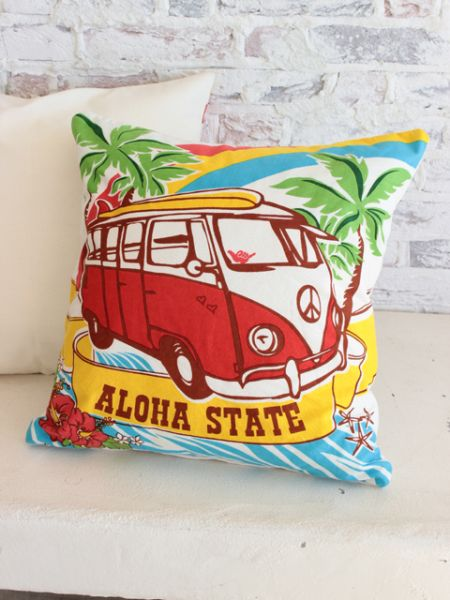 Surfing Bus Pillow Case-Cushion Covers-Ametsuchi