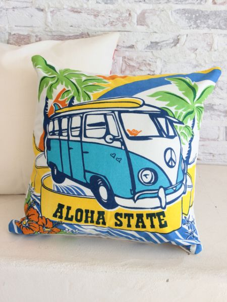 Surfing Bus Pillow Case