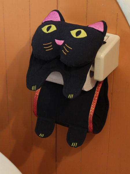 Cat Toilet Paper Holder Cover-Bathroom-Ametsuchi